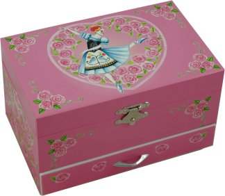 Doll On A Music Box Musical Jewellery Boxes