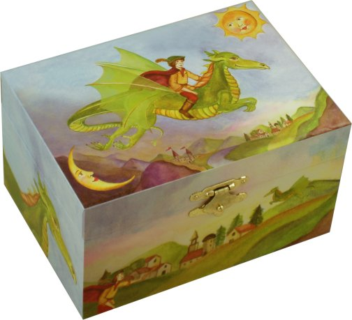 Empty Baby Gift Boxes Uk : Enchantmints friendly dragon musical treasure box playful