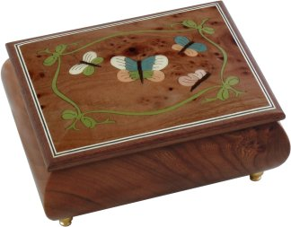 Butterfly Musical Jewellery Box