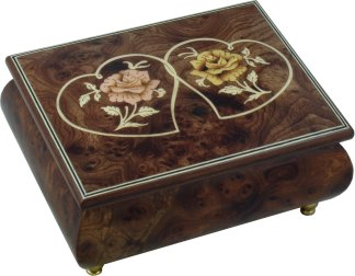 Hearts & Flowers Musical Jewellery Box