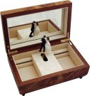 Bride & Groom Musical Jewellery Box